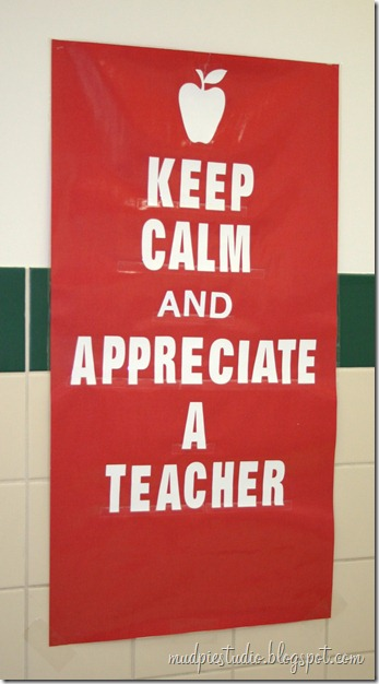 Teacher Appreciation Week Bulletin Board - mudpiestudio@blogspot.com