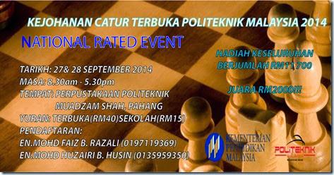 Catur Terbuka Politeknik Malaysia 2014 Pahang