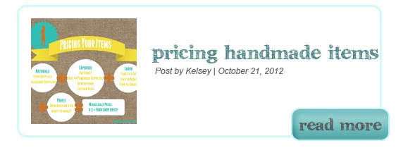 Pricing Handmade Items