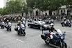 Gendarmerie International - Garde Republicaine begleitet Staatspräsident Sarkozy
