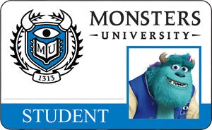 James P. Sullivan (Sulley) Monsters University Student Identification Card