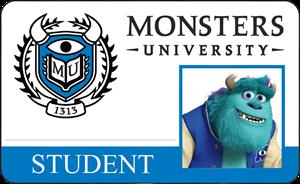 James P. Sullivan (Sulley) Monsters University Student Identification Card