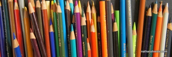 sharpening colored pencils (4)