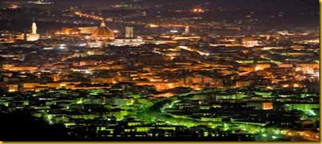 Firenze Vista da Fiesole di Notte
