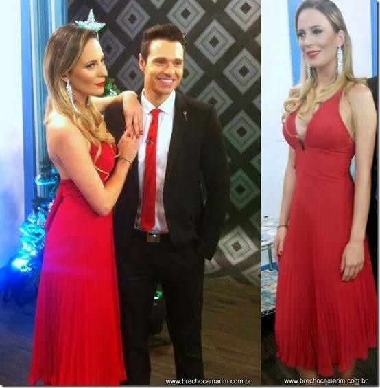 vestido vermelho brechocamarim