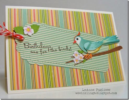 LeAnne Pugliese WeeInklings Birthday for the Birds Crafty Secrets Stampin
