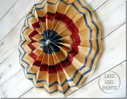 Tea Stained Patriotic Banner