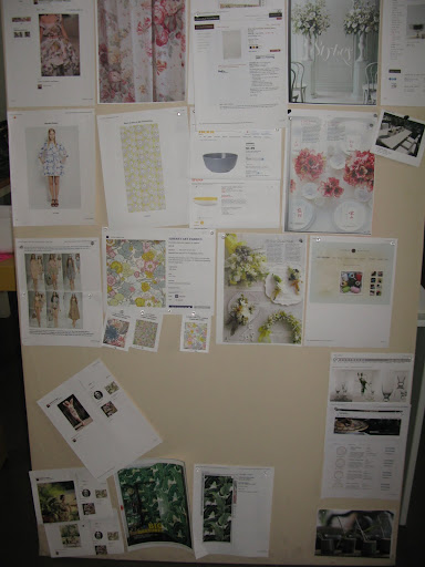 Here's our inspiration/planning board.