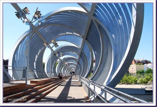puente monumental de arganzuela - sector sobre el río desde plaza mirador