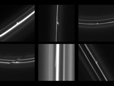 jatos de gelo produzidos no anel F de Saturno