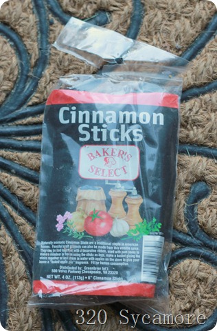 dollar tree cinnamon sticks