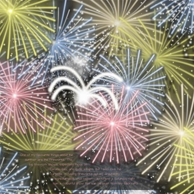 Mommy Me Time Scrapper - Dive into 4th of July - Fireworks