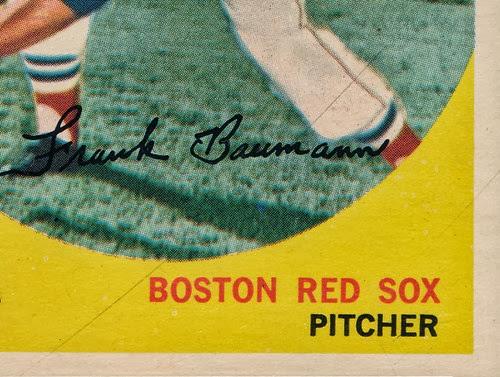 1959 Topps 161 Frank Baumann variation lower right