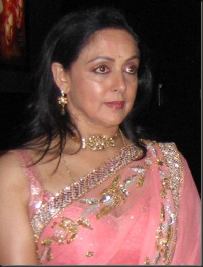 Hema Malini in pink  saree