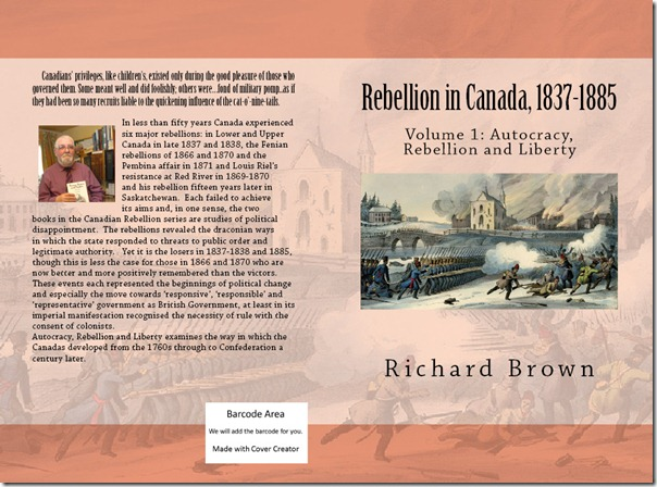 Rebellion in Canada Volume 1