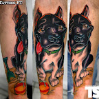 beach dog - Leg Tattoos Designs