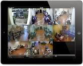 8 camera view of the VT-HD404 Viewtron DVR using the iPad DVR viewer app