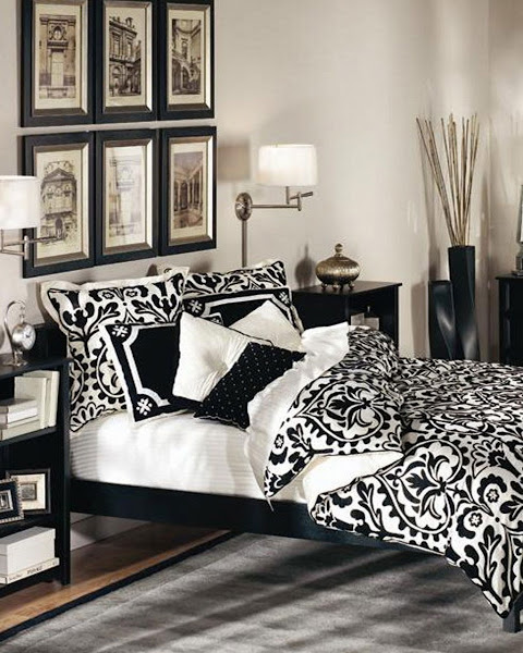 Traditional Black And White Bedroom Profesional Design Black And White Bedroom