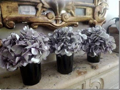 purple gray dried hydrangea via french essence via pinterest