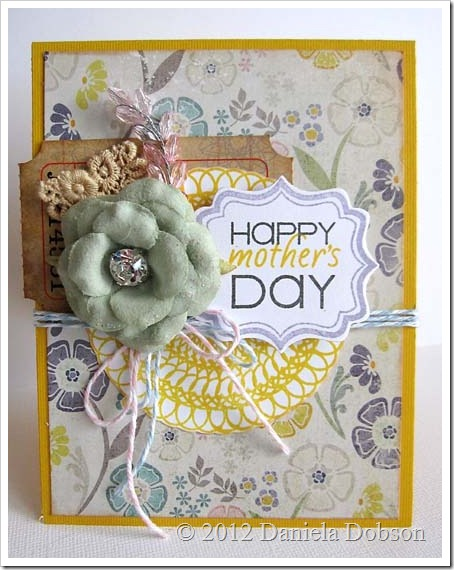 Daniela Dobson Happy Mother's Day card Clearsnap Flluid Chalk Ink Pigment Ink Stamps of Life (1)