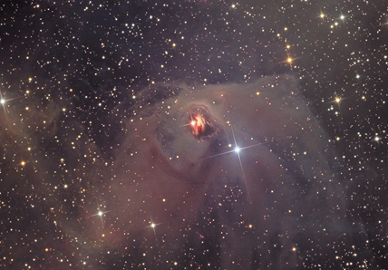 estrela variável T Tauri e Nebulosa Variável de Hind