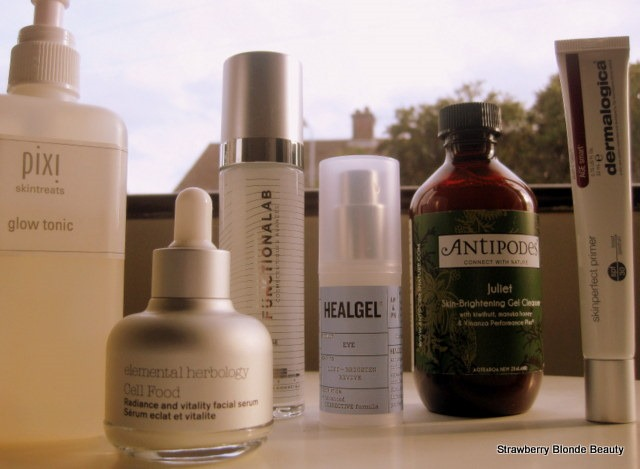 Elemental-Herbology-serum,healgel-eye,antipodes-juliet,pixi-glow-tonic,functionalab-moisturiser-review