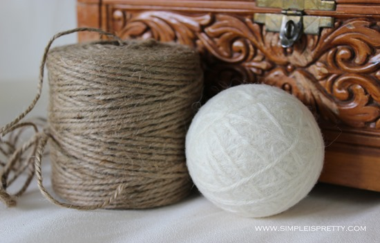 Cream Wool Dryer Ball 1.25oz from SimpleisPrettyShop http://www.etsy.com/ca/shop/SimpleisPrettyShop