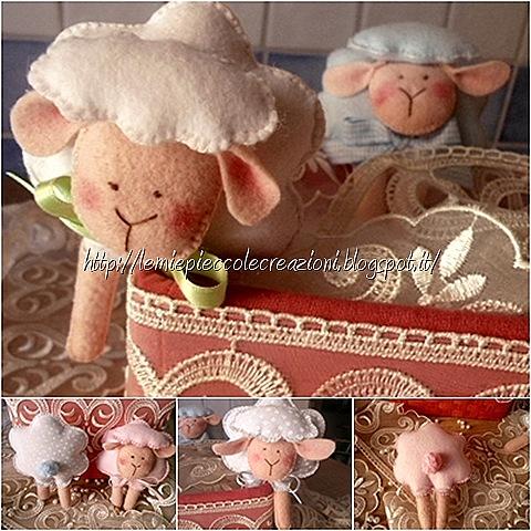 particolari pecorelle feltro