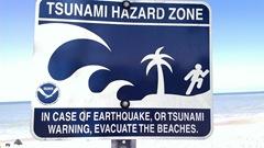 Vero Beach tsunami sign