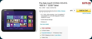 Acer W3-810-1600