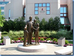 8365 Memphis BEST Tours - The Memphis City Tour - St. Jude's Children's Research Hospital Danny Thomas with Children statue
