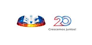 Logotipo dos 20 anos da SIC