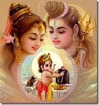 Ganesha worshiping his parents
