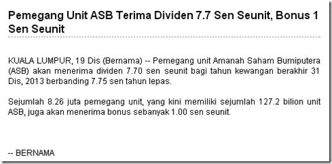 Dividen ASB 2013