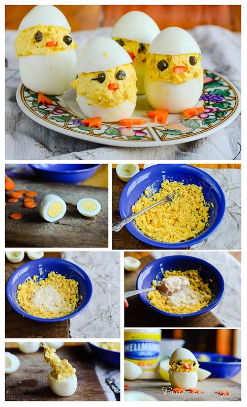 stuffed egg chicks