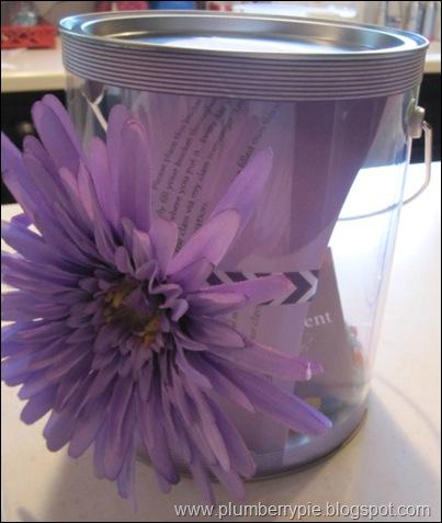 bucket for Mrs. Calandra