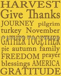 Yellow Thanksgiving Subway Art