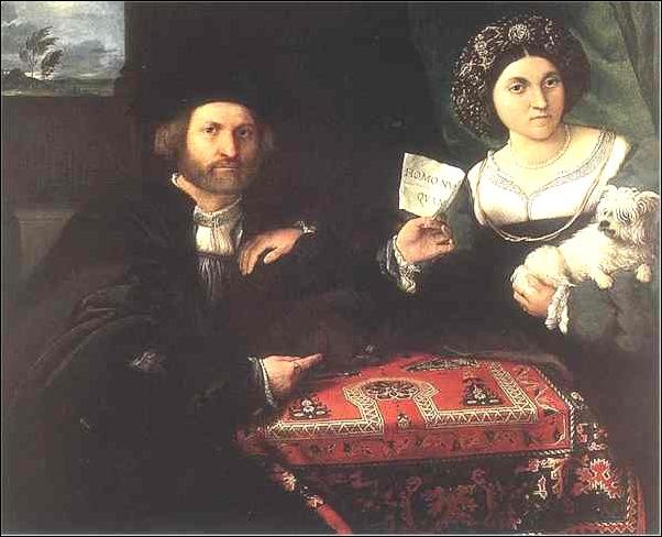 Lorenzo Lotto, Portrait des époux Bonghi 1525