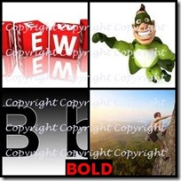 BOLD- 4 Pics 1 Word Answers 3 Letters