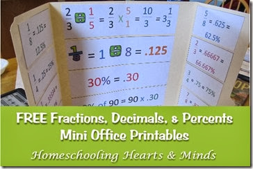 Fractions, Decimals, and Percents Mini-Office