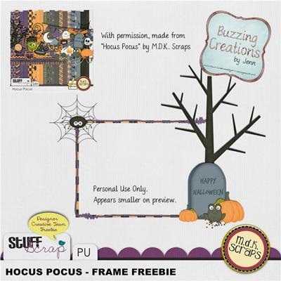 MDK Scraps - Hocus Pocus - Freebie Frame Preview