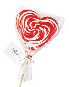 Papabubbleny.com candy -- I used this in my February 2011 Valentine's Day column in Martha Stewart Living.
