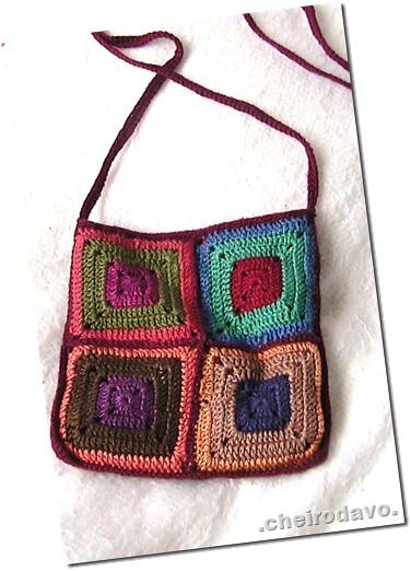 Bolsa de square colorido (pequena) frente