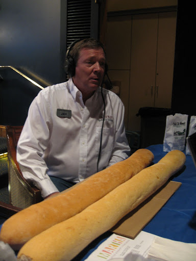 Jay Nix, Owner of Parkway Bakery and Tavern brought along Po' Boys and some of their delicious bread for us to munch on.