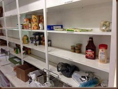 food pantry bare.
