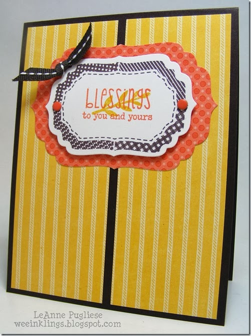 LeAnne Pugliese WeeInklings Paper Players 171 Blessings Card