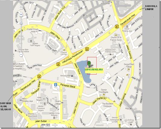 Map Ke Taman Jaya