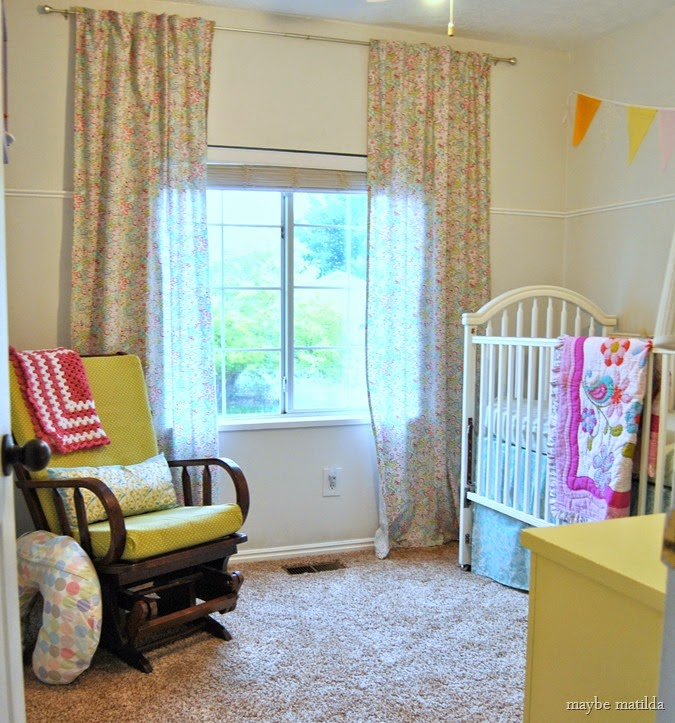colorful baby girl bedroom