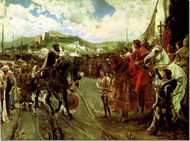 Francisco Pradilla Ortiz -Capitulación de Granada (detalle), 1882