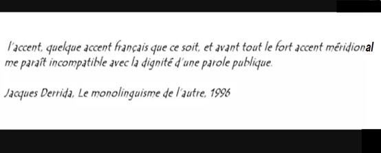 Jacques Derrida accent